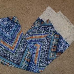 Boho style maxi skirt